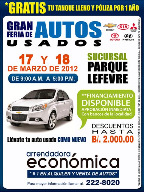 Publicidad para venta de autos